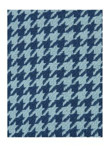 Dogtooth blue cushion
