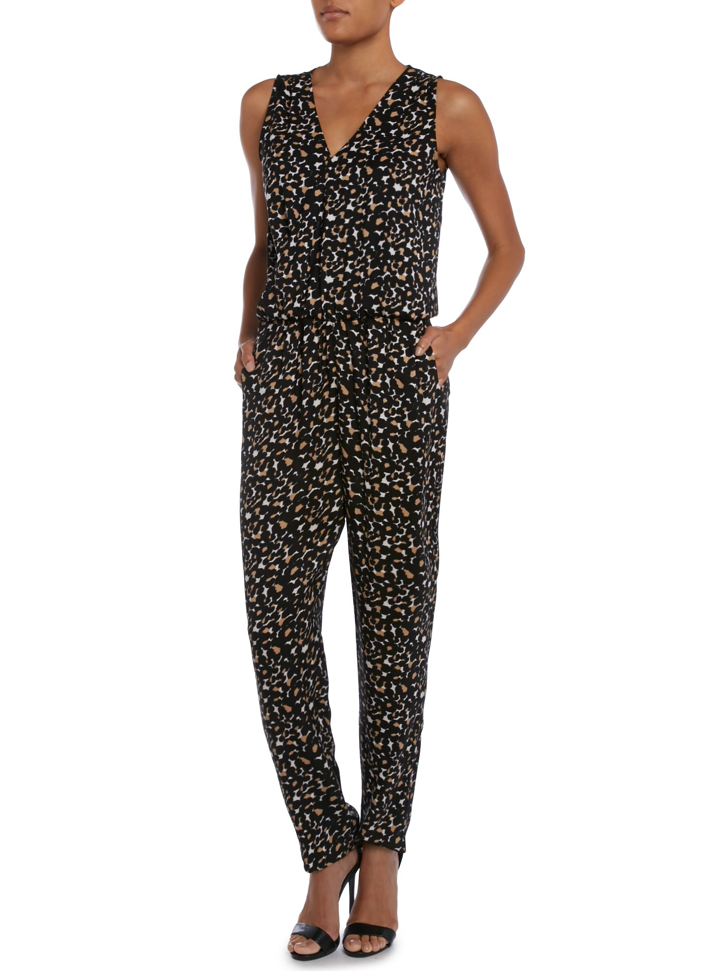 SL Mixed Leo Jumpsuit