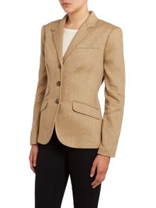 3 button silk mix jacket