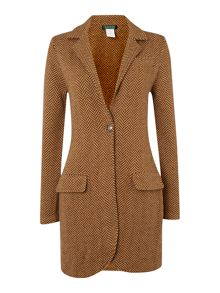 Long sleeve merino wool coat