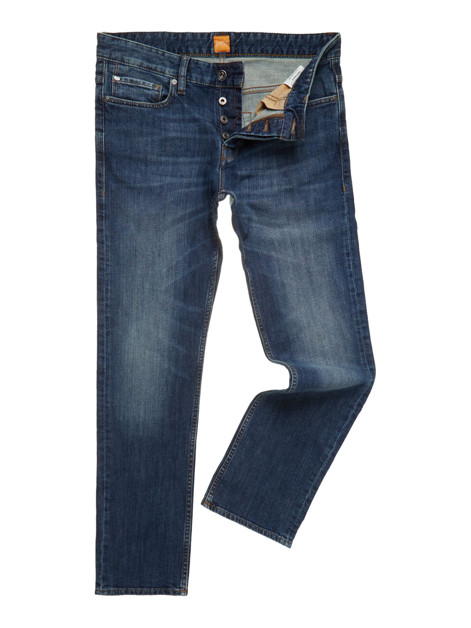 Regular straight leg medium rinse jean
