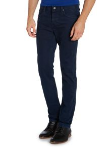 90 tapered slim indigo wash jean