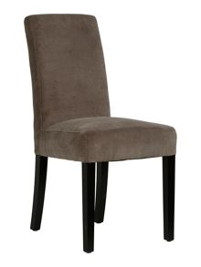 Thelma brown fabric dining chair pair