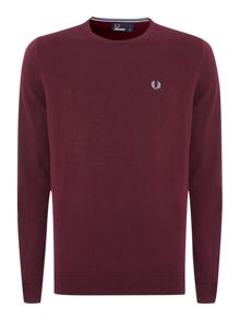 Classic merino tipped crew neck jumper
