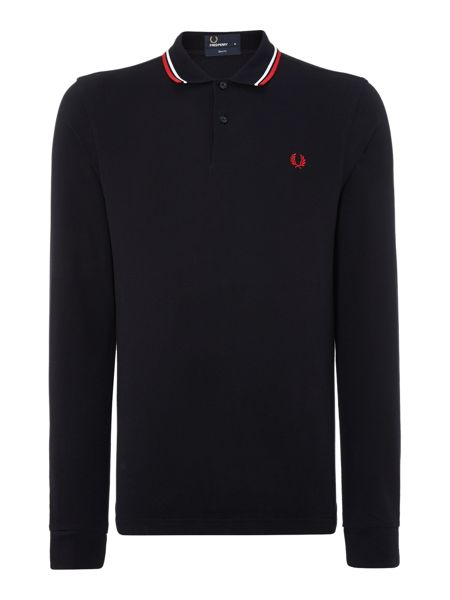 Fred Perry Long sleeved twin tipped polo shirt
