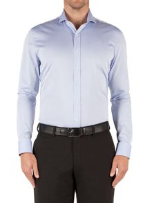 Alexandre of England Herringbone Tailored Fit Long Sleeve Shirt