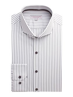Stripe Slim Fit Long Sleeve Cutaway Collar Shirt