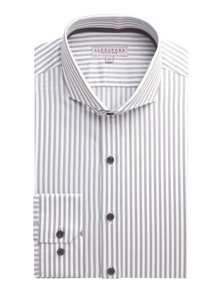 Alexandre of England Stripe Slim Fit Long Sleeve Cutaway Collar Shirt