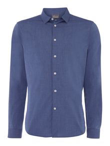 Nova plain chambray long sleeve shirt
