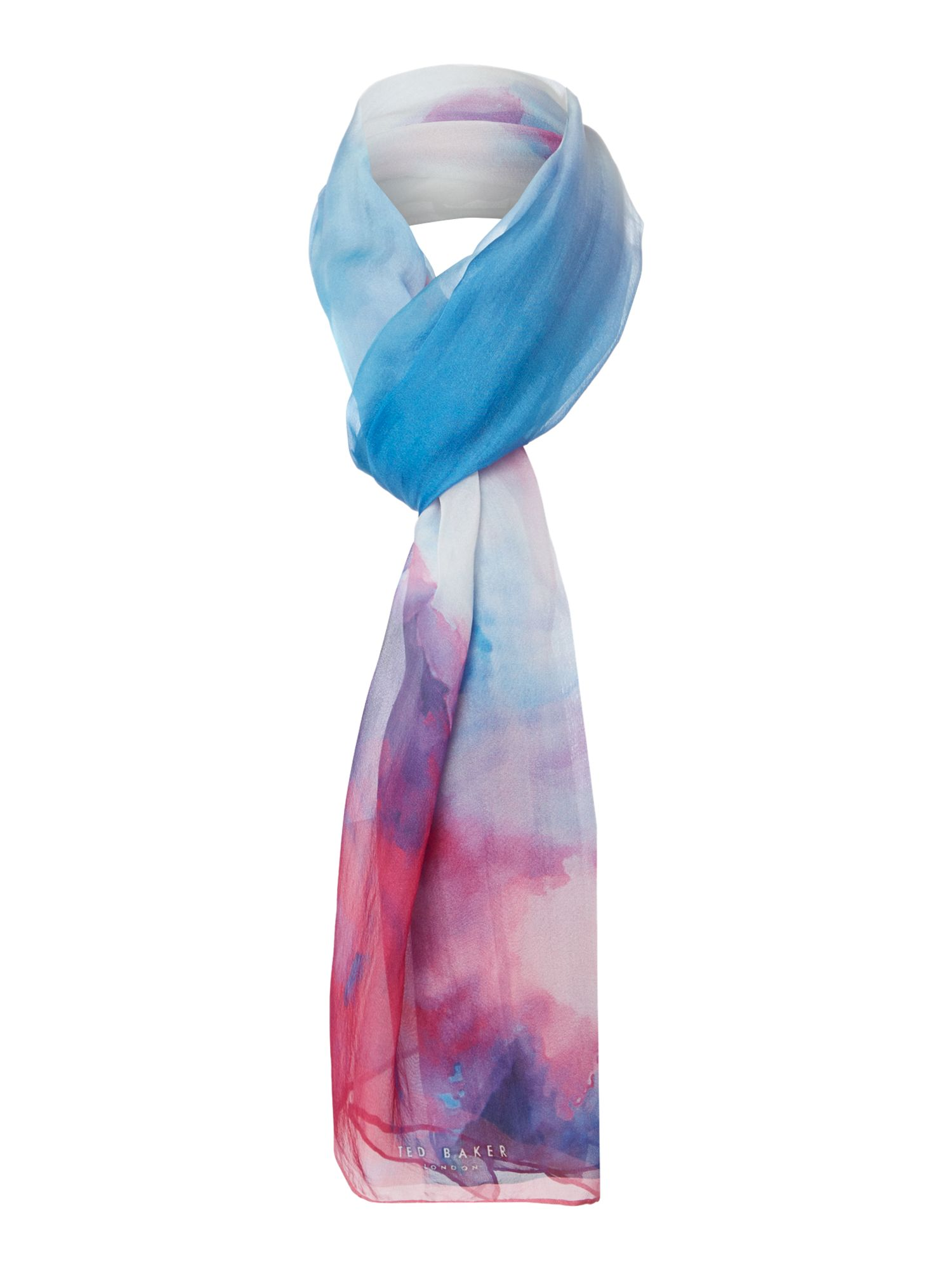 Summer At Dusk Silk Scarf