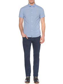 Bifort Plain Chambray Short Sleeved Shirt
