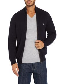 Plain knit sports cardigan