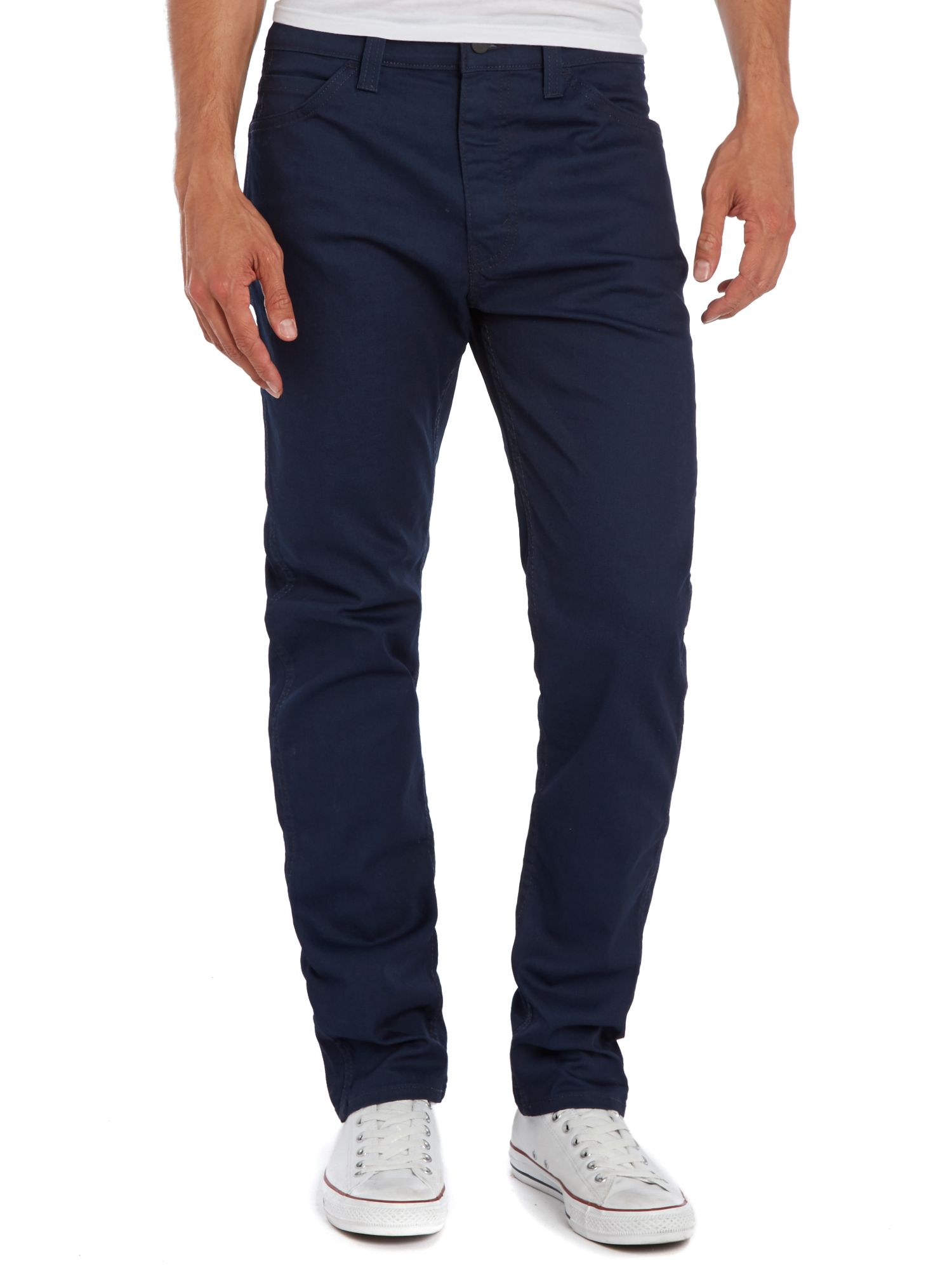 Line 8 508 regular taper green indigo jeans