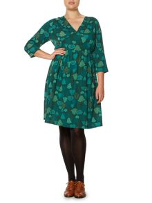 Portlethan tree jersey dress