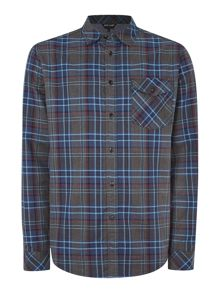 Army & Navy Terry Long Sleeve Check Shirt