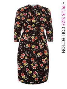 Dickins & Jones Plus Size Portlethan floral jersey dress