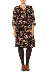 Portlethan floral jersey dress