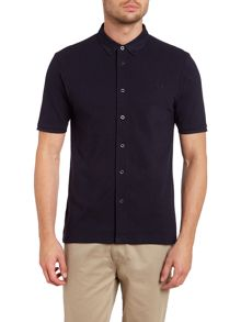 Short sleeve button through pique polo