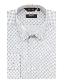 Paul Smith London Geometric Diamond Slim Fit Shirt