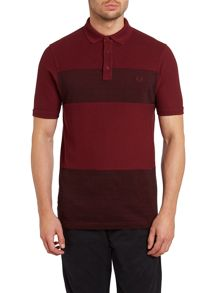Royal oxford pique mix short sleeve polo