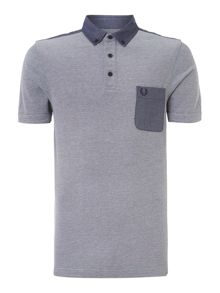 Oxford trim pique short sleeve polo