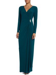 Pascha long sleeve wrap gown