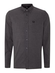Micro gingham marl long sleeve shirt