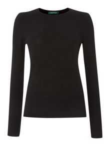 Long sleeve crewneck cashmere jumper