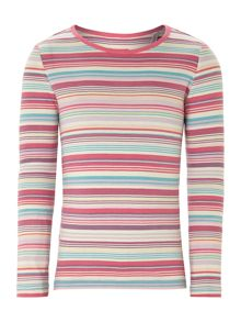 Girls multi stripe jersey t-shirt