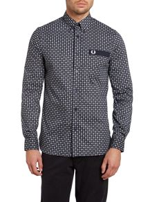 Drakes medallion long sleeve shirt