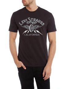 Crew neck california winged tyre t shirt