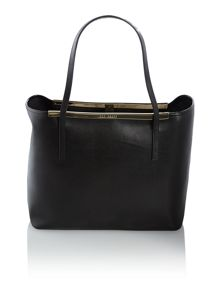 Black saffiano tote bag