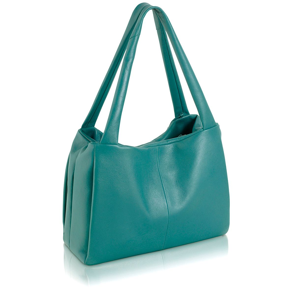 Cavendish blue leather large barrel tote bag