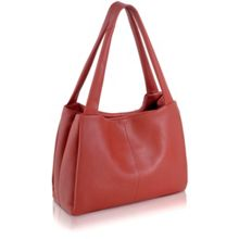 Cavendish orange leather large barrel tote bag