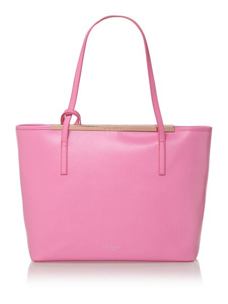 Ted Baker Pink large saffiano tote bag