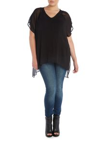 Plus Size Split back blouse