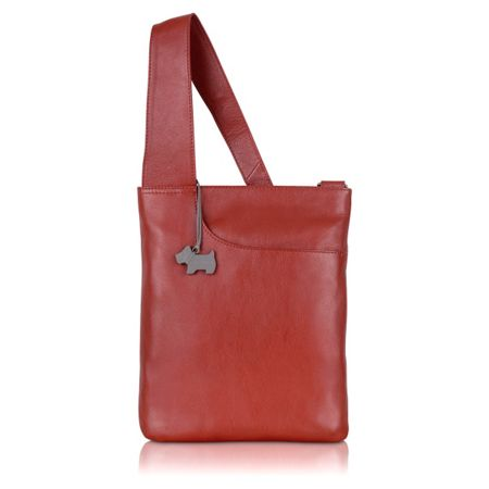Radley Pocket bag medium ziptop xbody leather orange bag