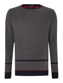 Crew neck solid jumper