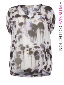 Inky Print Blouse