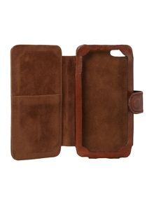 Linea Tan leather iPhone case