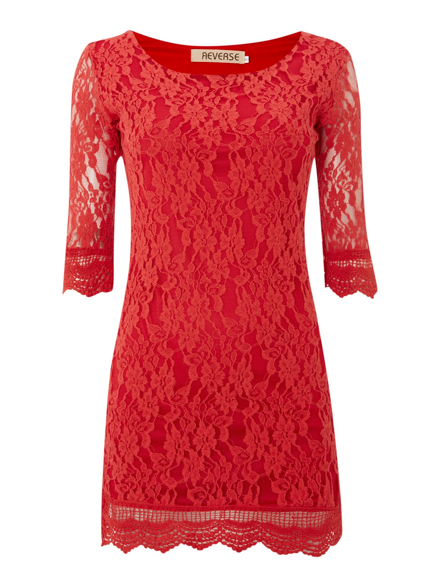 3/4 SL Lace Bodycon Dress