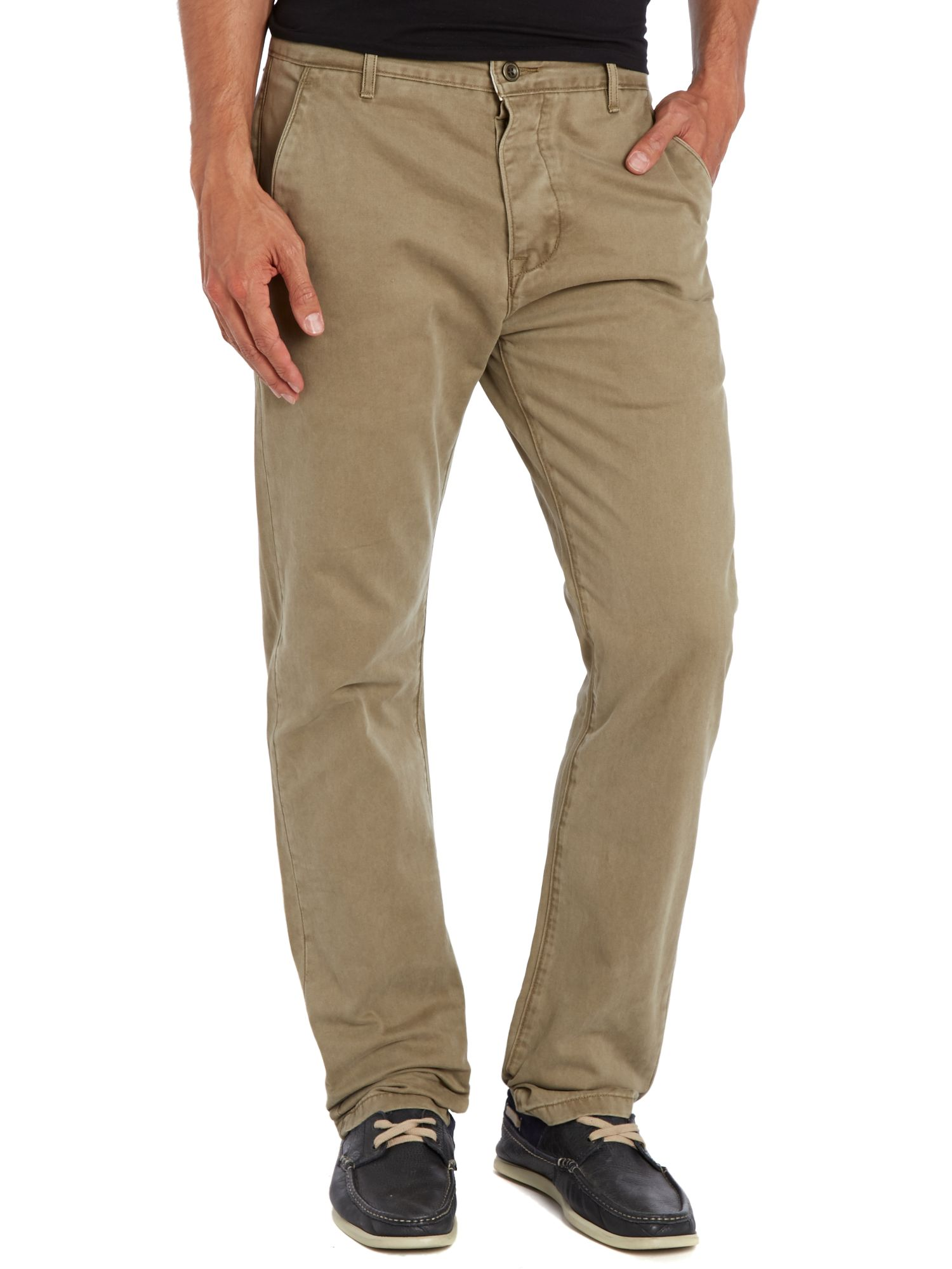 Standard fit straight leg chino