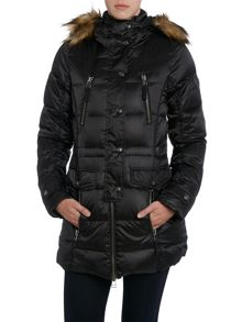 Long light weight jacket in black