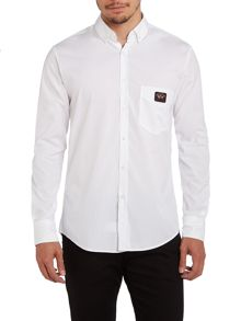 Long sleeve slim fit solid shirt