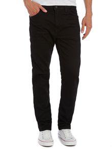 Line 8 508 regular taper fit black 3d jean