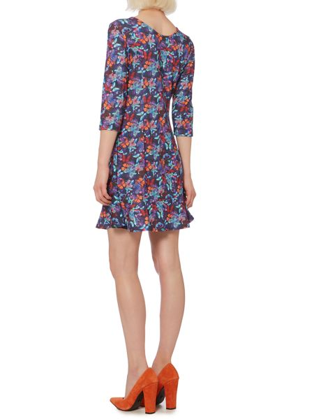Therapy Bright butterfly peplum dress