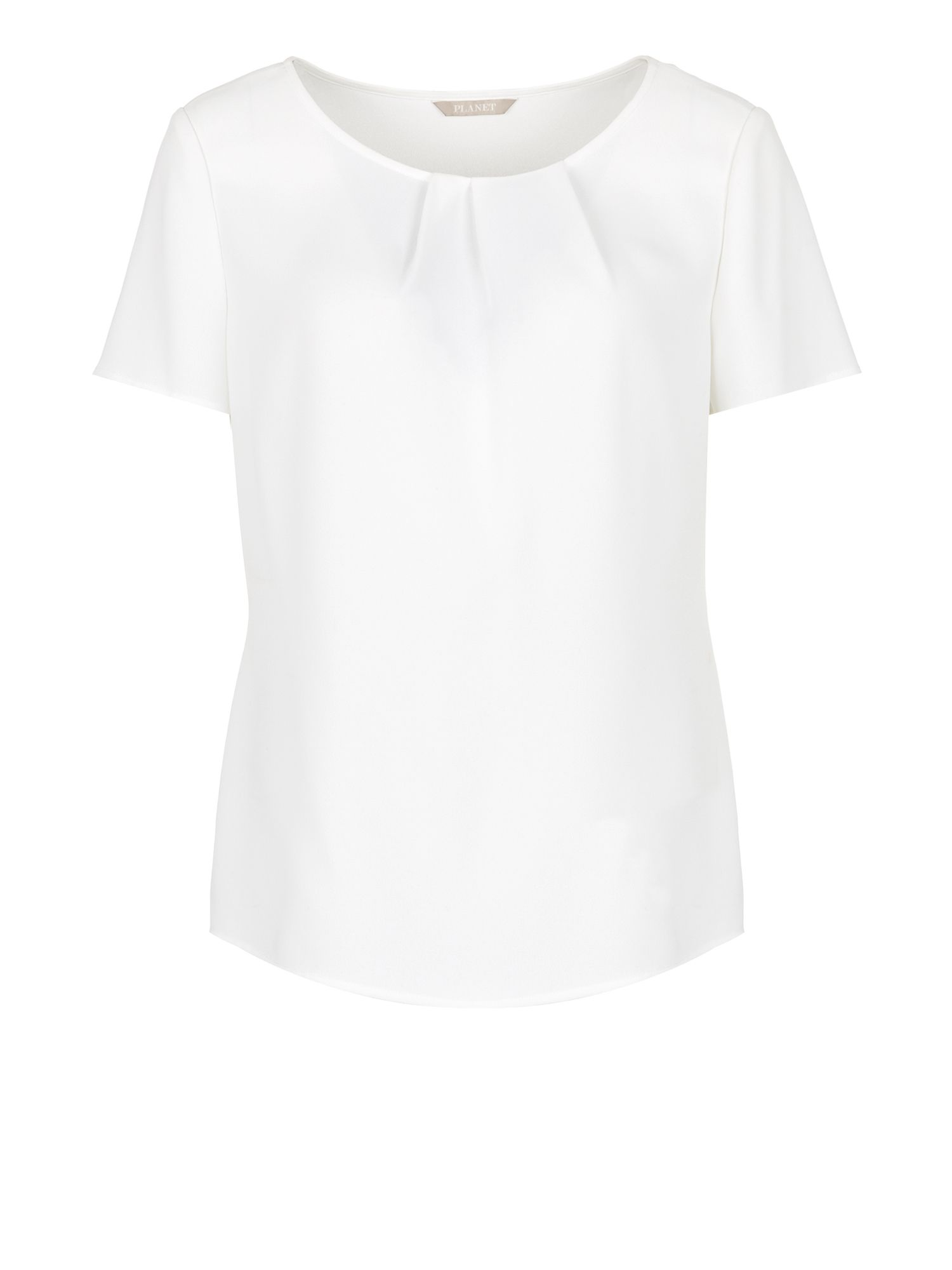 Ivory neck pleat blouse