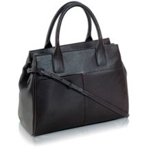 Portland medium brn leather ztop multiway handbag
