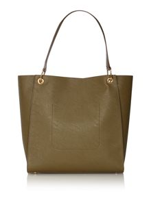 Green large tote bag
