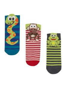 Baby animal socks set of 3